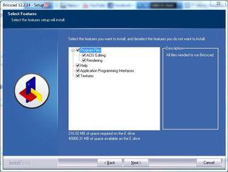 Bricscad_custom_install_options